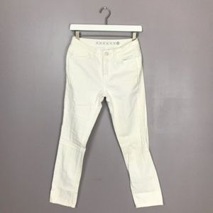 "Kate Spade The ""Kick It"" White Straight Leg Jeans"
